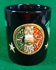 Souvenir Mug Mexico Black No Manufacturer Marks Some Wear on Design        (937)