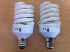 5w 9w 11w 15w 20w Energy Saving CFL Daylight 5600k Bulbs BC ES SES x 2, 4, 10