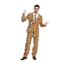 PIMP Buddy Anzug Blümchen Hippie Deluxe Herren Faschingskostüm 48-50 52-54 56-58