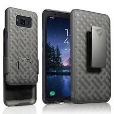 Samsung Galaxy S8 ACTIVE Case Black Holster Swivel Belt Clip Hard Slim Cover
