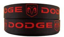 "Dodge Trucks 1"" Wide Repeat Ribbon Sold in Yard Lots - USA SELLER"
