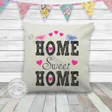 """Chenille Housse De Coussin HOME SWEET HOME 17/""""x17/"""" Chambre Accessoire 3 Couleurs"""