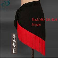 Belly Dance Costume Hip Scarf Wrap Skirt Shawl Fringe Latin Salsa Samba Fringe