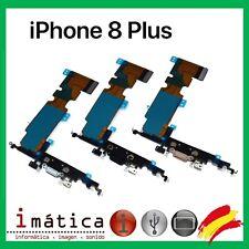77492508170 CONECTOR CARGA iPHONE 8 PLUS COLOR NEGRO BLANCO FLEX JACK ANTENA MICROFONO  CABLE