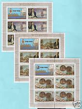 Cook Islands Sc 480v-82v MNH. 1978 Cap. Cook min sheets