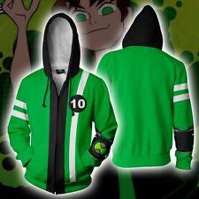 ben10 Alien Force Ben hoodie Sweatshirt Cosplay Costume zip up coat Jacket