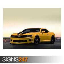 Chevrolet camaro jaune (AA144) voiture poster-photo poster print art * toutes les tailles