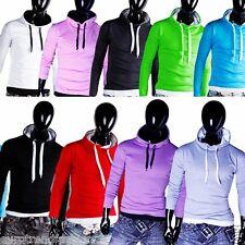 NEU Sweatshirt Herren Basic Pulli Shirts T-Shirt Kapuzenpullover S M L XL XXL