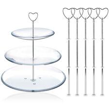 5 Support Poignée Coeur pour Assiette plateau 3 étage Présentoir gateau cupcake