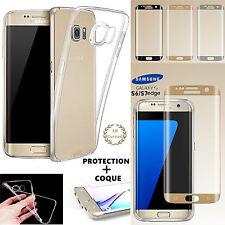 Film de Protection écran Incurvé 3D Samsung Galaxy S6 S7 EDGE + Coque Silicone