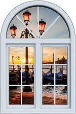 Stickers fenêtre trompe l'oeil Lampadaire réf 6272