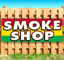 "SMOKE SHOP Advertising Vinyl Banner Flag Sign 15"" 18"" 24"" 40"" 52"""