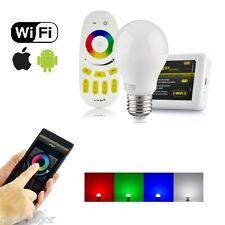 LAMPE LED WIFI LUMIÈRE BLANCHE RGB MULTICOLORE E27 TÉLÉCOMMANDE RF MODULE