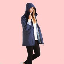 Charcoal Fashion Women's Premium Navy Water Resistant Rubber Rain Coat