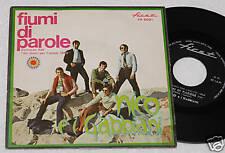 """NICO E I GABBIANI:7""""-FIUMI DI PAROLE-ORIGINALE 1969 EX+"""