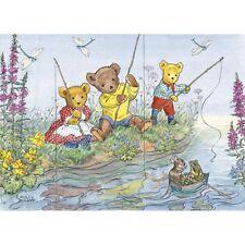 Teddies Fishing - Molly Brett Print