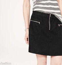 NWT Ann Taylor LOFT Lou & Grey Linen Mini Skirt