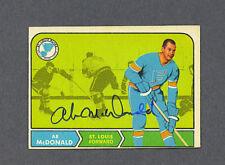 Ab McDonald signed Stl. Blues 1968-69 Opc hockey card