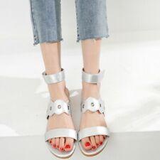 Fashion Women's Ankle Strap Sandals Open Toe Casual Summer Beach Shoes Plus Size