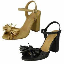 Sale Ladies Spot On Block Heeled Summer Sandals F1R0842