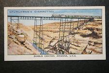Santa Fe Railway  Diablo Canyon Bridge  Arizona   1930's Vintage Card # VGC