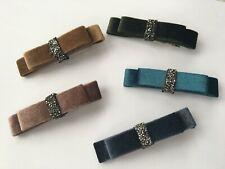Elegant Velvet Knot Rhinestone Clip Hair Accessories 8 cm * 2 cm