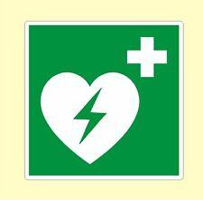 Defibrillator Defi Schockgeber Aufkleber Hinweis in 5 Größen Nr. 7726