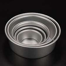 Round Sandwich Cake Baking Tin Pan Mold Mould Kitchen Bakeware Fun Aluminum JR