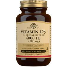 Solgar Vitamin D3 4000iu Choose either 60 or 120 Capsules
