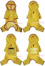Raining Umbrella Leader Yellow Pet Cat Dog Puppy Waterproof Raincoat Clothes