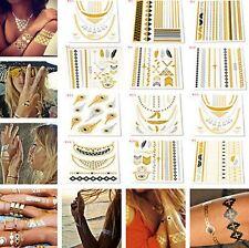 Gold Silver Metallic tattoo Temporary tattoos Jewellery Bracelet Body Art