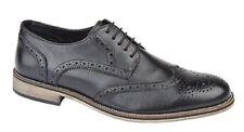 Roamers Shaun 5 occhielli CALATA Gibson formali ufficio scarpe di pelle