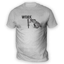 Work Rest MotoCross Mens T-Shirt -x13 Colours- Trials MotoX Championship Comp