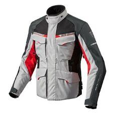chaqueta de motociclista Rev'it Revit Outback 2 plata rojo silver red M L XL