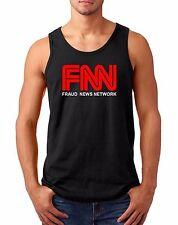 Mens Tank Top #2 FNN Fraud News Network T-shirt President Trump Tee MSM CNN Fake