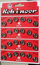 24 Druckknöpfe rostfrei silberfarben und schwarz 13 - 20 mm Koh-i-noor