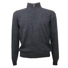 B8284 maglione uomo ALTEA grigio melange lana sweater wool men