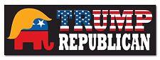 "Trump GOP Republican Elephant American Flag President 2016 sticker decal 9""x3"""