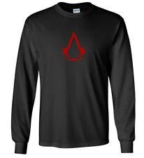 Assasin's Creed Ezio Clan Shirt Men's Black Red Long Sleeve T-Shirt S - 5XL