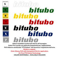 sticker sponsor motorcycle bitubo helmet adesivi pvc prespaziati 2 pz. cm. 15