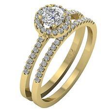 Round Diamond Halo Engagement Bridal Ring SI1 G 1.00 Ct 14K White Gold Appraisal