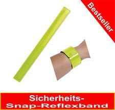 Snap Reflexband - neongelb 30x340mm Schnapparmband, auch für Kinder geeignet-TOP