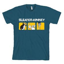 Sleater Kinney Bleu T-Shirt Sub Pop Neuf Professionnellement Fabriqué + Imprimé