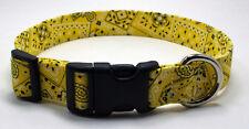 Bandanna Yellow Dog Collar Adjustable Handmade Custom Designer