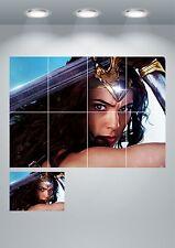 Wonder Woman GIGANTE wall art print poster-a3/a4 sezioni o GIGANTE 1 PEZZI