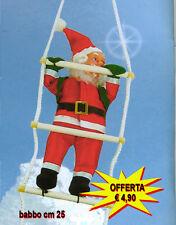 Babbo Natale Su Scala di  Corda  Casa Esterno Addobbi Feste