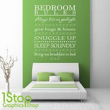 camera da letto muro adesivo CITAZIONE - Rules decalcomania artistica parete