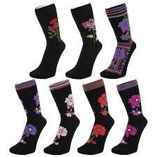 Calcetines Tobilleros Negros Con Flores