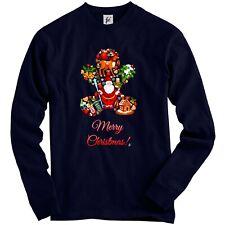 Merry Christmas Ginger Bread Man Santa Deer Gifts Adult Christmas Jumper