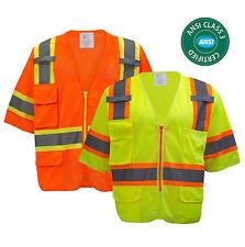 Class 3 Hi-Vis Two Tones  Short Sleeve Reflective Safety Vest -MV7811/12